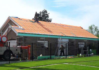 Renovatie dak woning - tijdens de werken - West-Vlaanderen
