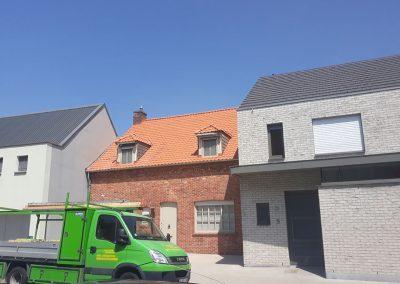 Nieuw dak Terreal Renaissance natuurrood dubbele stormpannen